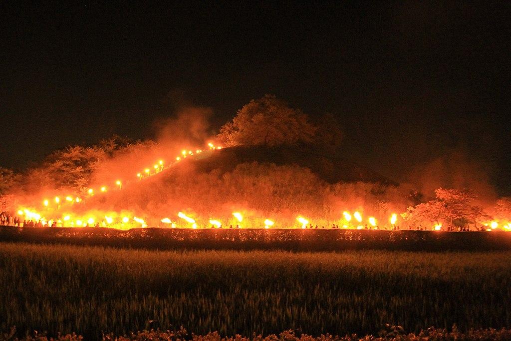 Gyoda Maruhakayama Tumulus In Sakitama Fire Festival 1