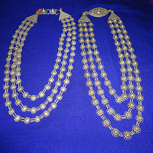 Hajong people - Hārsurah or Chondrohar -  Silver necklace worn by women