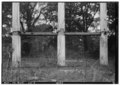 HAND HEWED TIMBER PORCH BEAM RUNNING THROUGH PORTICO COLUMNS - Ruins of Augusta Evans Wilson House, Lanier Avenue, HABS ALA,49-MOBI,65-3.tif