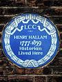 HENRY HALLAM 1777-1859 Historian Lived Here.jpg