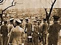 HIH the Prince Regent viewing devastated Yokohama-restored-sepia.jpg