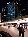 HK 中環 Central night 晚上 Exchange Square 交易廣場 sculture 8 Eight water fountain Oct 2018 SSG 03.jpg