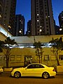 HK evening 沙田第一城 Shatin City One Hang Shing Street carpark white car Feb-2016 DSC.JPG