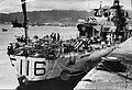 HMS Amethyst (F116) docked at Hong Kong IWM HU 129713.jpg