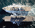 HMS Ark Royal RAS with RFA Wave Knight MOD 45151259.jpg