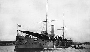 HMS Thames (1885) - Image: HMS Thames as sub tender