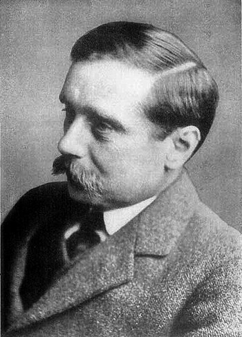 British author H. G. Wells' 1895 novel The Tim...
