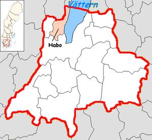 Habo Municipality - Image: Habo Municipality in Jönköping County