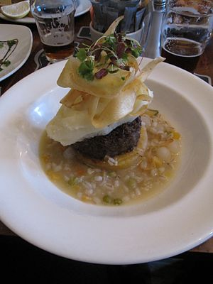 Whisky with food - Image: Haggis at the Auld Smiddy Inn