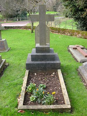 Emily Pepys - St John the Baptist Church, Hagley, grave of Emily Lyttelton (née Pepys, 1833–1877). She married Rev. William Henry Lyttelton (1820–1884), Canon of Gloucester, who is buried next to her.