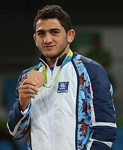 Haji Aliyev at the Rio 2016
