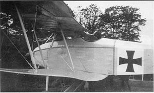 "Halberstadt D.II - Ernst Freiherr von Althaus' Halberstadt D.II fighter from late 1916, showing characteristic lower wing trailing edge ""droop"""