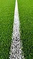 Half-way line on the Brastad arena soccer field 1.jpg