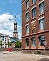 Hamburg, Speicherstadt, Kannengießerortbrücke, Block P (und Katharinenkirche) -- 2016 -- 3002.jpg