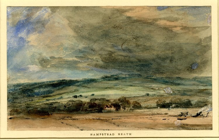 Hampstead Heath by John Constable watercolour