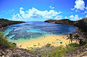 Hanauma Bay from the Road Down HDR - August 2010 - panoramio.jpg