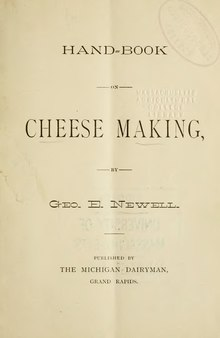 Hand-book on cheese making.djvu