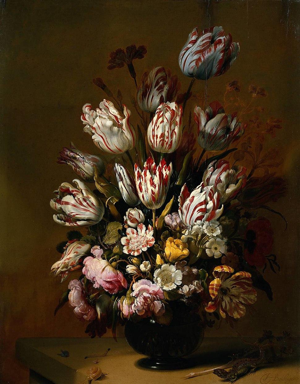 Hans Bollongier - Stilleven met bloemen