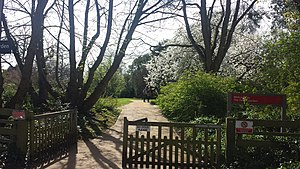 Harris Garden - The entrance to the Harris Garden