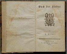 Buch der Lieder, Titelblatt der Erstausgabe 1827 (Quelle: Wikimedia)