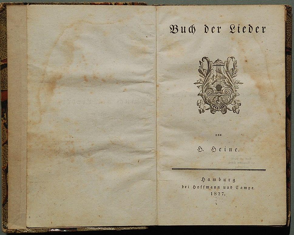 Heine Buch der Lieder 1827