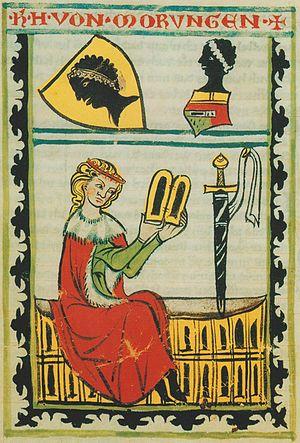 Weingarten Manuscript - Miniature of Heinrich von Morungen in the Weingarten Manuscript