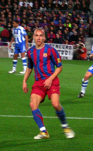 Henrik Larsson - Larsson playing for Barcelona against Deportivo
