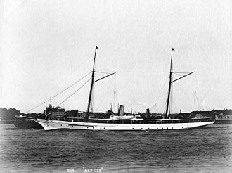 Henry Flagler - Henry Flagler's steam yacht Alicia, 160' long at the waterline, custom built in 1890 by Harlan and Hollingsworth of Wilmington, Delaware.
