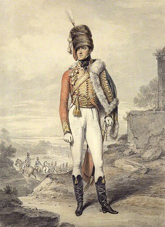 Battle of Sahagún - A portrait of Henry, Lord Paget, later 1st Marquess of Anglesey, as Colonel of the 7th Light Dragoons (Hussars) circa 1807.