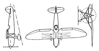 Henschel Hs 121 - Henschel Hs 121 3-view drawing from L'Aerophile September 1939