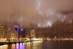 Nokta panoramo de Roterdamo
