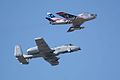 Heritage Flight A-10C F-86F second pass 10 big TICO 13March2010 (14597516254).jpg