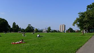Brockwell Park - The skyline from the highest point in Brockwell Park