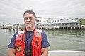 Heroic USCG Fireman James D. Sanders, Jr., outside USCG Station Fort Macon - 160520-G-LS819-002.jpg