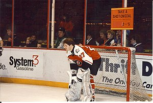 1991–92 Philadelphia Flyers season - Ron Hextall at the 1992 Flyers Wives Carnival.