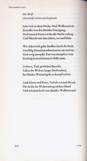 Georg Heym: Die Stadt