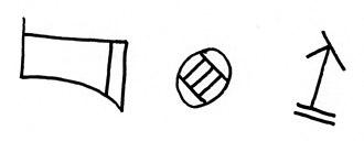 Anatolian hieroglyphs - Image: Hieroglyph Luwian Urartian tyerusi 1