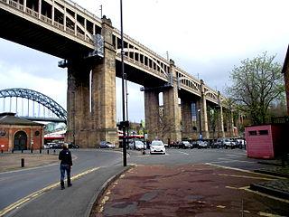 High Level Bridge Road-rail bridge in Tyneside, England