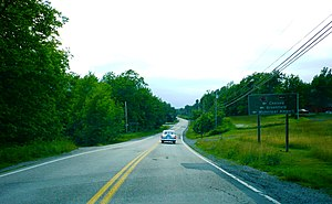 Nova Scotia Route 210 - Highway 325 intersecting the beginning of Highway 210 in Newcombville.