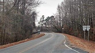 Arkansas Highway 51 - Image: Highway 51 and Highway 53 in Clark County, Arkansas