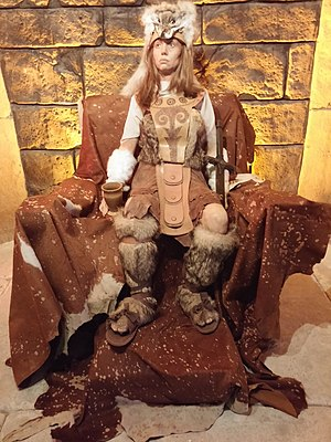 Hippolyta - A wax sculpture of Hippolyta at Samsun.