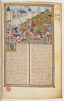 Histoire de la guerre sainte de Guillaume de Tyr - BNF Fr2824 f1r (bataille de Ninive).jpg