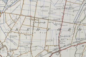 Newborough, Cambridgeshire - Historical Map of Newborough in 1945.
