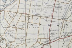 Newborough, Cambridgeshire - Historical Map of Newborough in 1945.