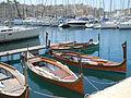 Historische Boote am Museumspier Vittoriosa.JPG