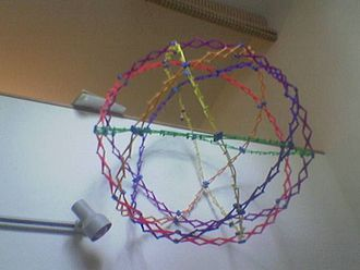 Icosidodecahedron - A Hoberman sphere as an icosidodecahedron