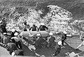 Hoisting in paravane on HMS Sheffield Apr 1941 IWM A 3971.jpg
