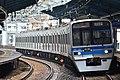 Hokuso 7300 series at Heiwajima Station (47983949462).jpg