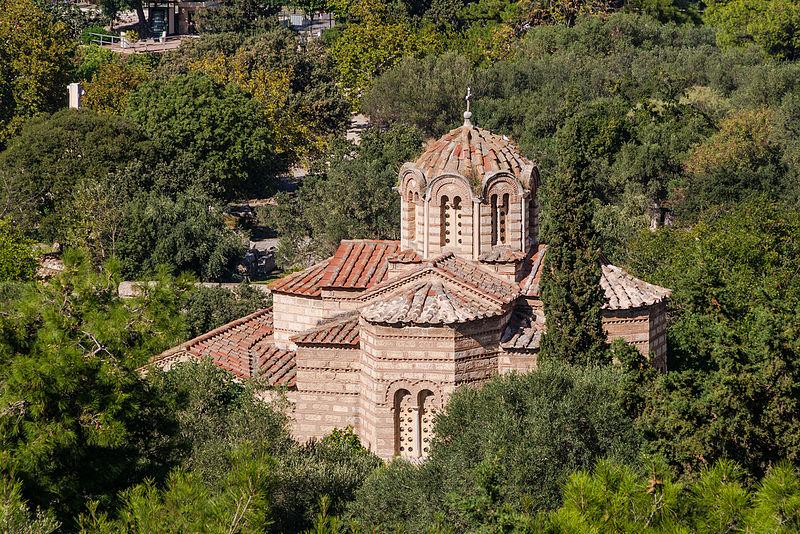 File:Holy Apostles church ancient agora from Acropolis Athens.jpg