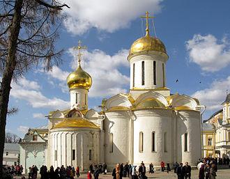 Old Katholikon of the Trinity Lavra - Image: Holy Trinity Church (Sergiev Posad) 11